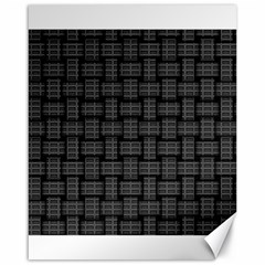 Background Weaving Black Metal Canvas 16  X 20