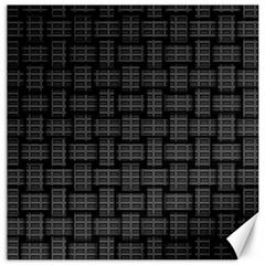 Background Weaving Black Metal Canvas 20  X 20