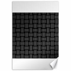 Background Weaving Black Metal Canvas 20  X 30