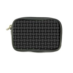 Background Weaving Black Metal Coin Purse