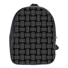 Background Weaving Black Metal School Bag (large) by Nexatart