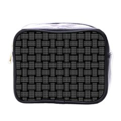 Background Weaving Black Metal Mini Toiletries Bags