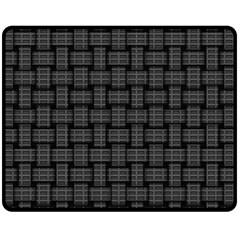 Background Weaving Black Metal Fleece Blanket (medium)