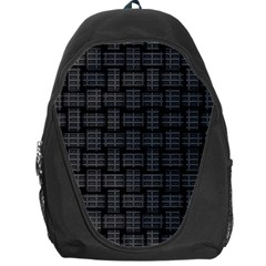 Background Weaving Black Metal Backpack Bag