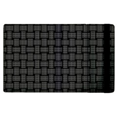 Background Weaving Black Metal Apple Ipad 3/4 Flip Case by Nexatart