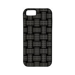 Background Weaving Black Metal Apple Iphone 5 Classic Hardshell Case (pc+silicone)
