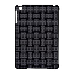 Background Weaving Black Metal Apple Ipad Mini Hardshell Case (compatible With Smart Cover)