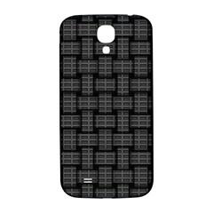 Background Weaving Black Metal Samsung Galaxy S4 I9500/i9505  Hardshell Back Case