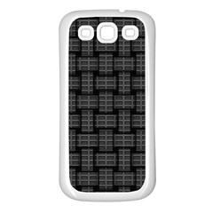 Background Weaving Black Metal Samsung Galaxy S3 Back Case (white)