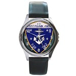 USS Frank Knox Emb Round Metal Watch