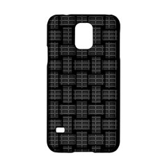 Background Weaving Black Metal Samsung Galaxy S5 Hardshell Case