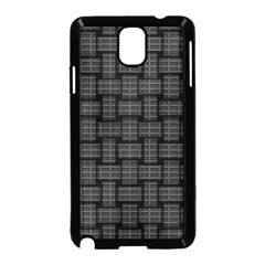 Background Weaving Black Metal Samsung Galaxy Note 3 Neo Hardshell Case (black)