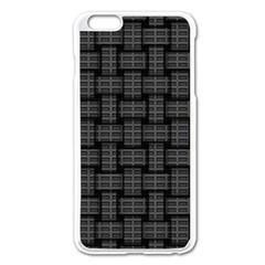 Background Weaving Black Metal Apple Iphone 6 Plus/6s Plus Enamel White Case