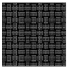 Background Weaving Black Metal Large Satin Scarf (square)
