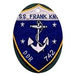 USS Frank Knox Emb Ornament (Oval)
