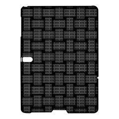 Background Weaving Black Metal Samsung Galaxy Tab S (10 5 ) Hardshell Case