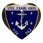 USS Frank Knox Emb Ornament (Heart)