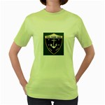 USS Frank Knox Emb Women s Green T-Shirt