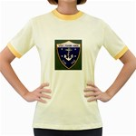 USS Frank Knox Emb Women s Fitted Ringer T-Shirt