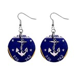 USS Frank Knox Emb 1  Button Earrings