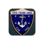 USS Frank Knox Emb Rubber Square Coaster (4 pack)