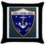 USS Frank Knox Emb Throw Pillow Case (Black)