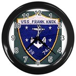 USS Frank Knox Emb Wall Clock (Black)