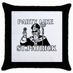 St  Patricks Day  Throw Pillow Case (black) by Valentinaart