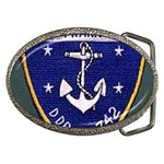 USS Frank Knox Emb Belt Buckle