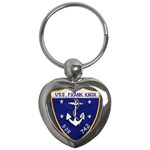 USS Frank Knox Emb Key Chain (Heart)