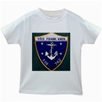 USS Frank Knox Emb Kids White T-Shirt