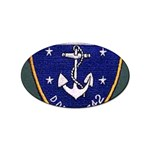 USS Frank Knox Emb Sticker Oval (10 pack)