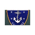 USS Frank Knox Emb Sticker Rectangular (10 pack)