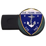 USS Frank Knox Emb USB Flash Drive Round (1 GB)