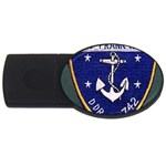 USS Frank Knox Emb USB Flash Drive Oval (2 GB)