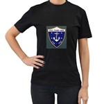 USS Frank Knox Emb Women s Black T-Shirt