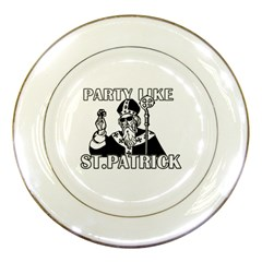 St  Patricks Day  Porcelain Plates by Valentinaart