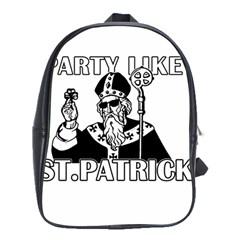 St  Patricks Day  School Bag (xl) by Valentinaart