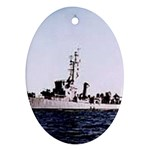 USS Huse Pic Ornament (Oval)