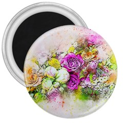 Flowers Bouquet Art Nature 3  Magnets
