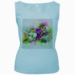 Flowers Bouquet Art Nature Women s Baby Blue Tank Top