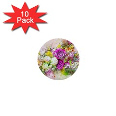 Flowers Bouquet Art Nature 1  Mini Buttons (10 Pack)