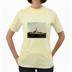 USS Huse Pic Women s Yellow T-Shirt