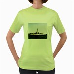 USS Huse Pic Women s Green T-Shirt
