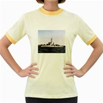 USS Huse Pic Women s Fitted Ringer T-Shirt