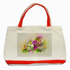 Flowers Bouquet Art Nature Classic Tote Bag (red)