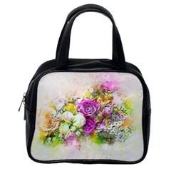 Flowers Bouquet Art Nature Classic Handbags (one Side)