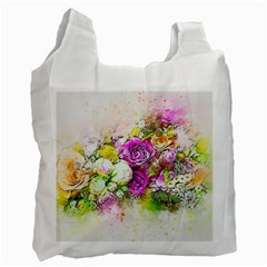 Flowers Bouquet Art Nature Recycle Bag (one Side)