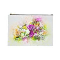 Flowers Bouquet Art Nature Cosmetic Bag (large)