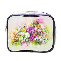 Flowers Bouquet Art Nature Mini Toiletries Bags